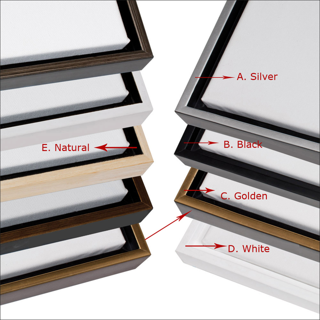 Custom negro marco flotante para la pintura al óleo/Imprime cinco ...