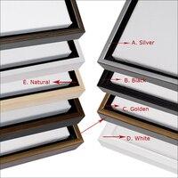 Wooden Black Floating Frame For Oil Painting Prints Five Colors Frames For You Choose