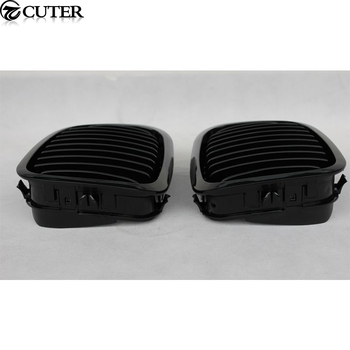 E46 Coupe Racing Grills Bright black Matt black Mesh Grill Grille for BMW E46 3 series coupe front bumper 98-01 grille