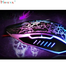 Adroit 1PC Professional Colorful Backlight 4000DPI Optical Wired Mouse Gaming Mice CS61107 drop shipping