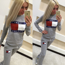 New Brand O-neck Long Sleeve Solid Women Running Set Hot Sale Breathable Tracksuit Hoodies Sport Suit