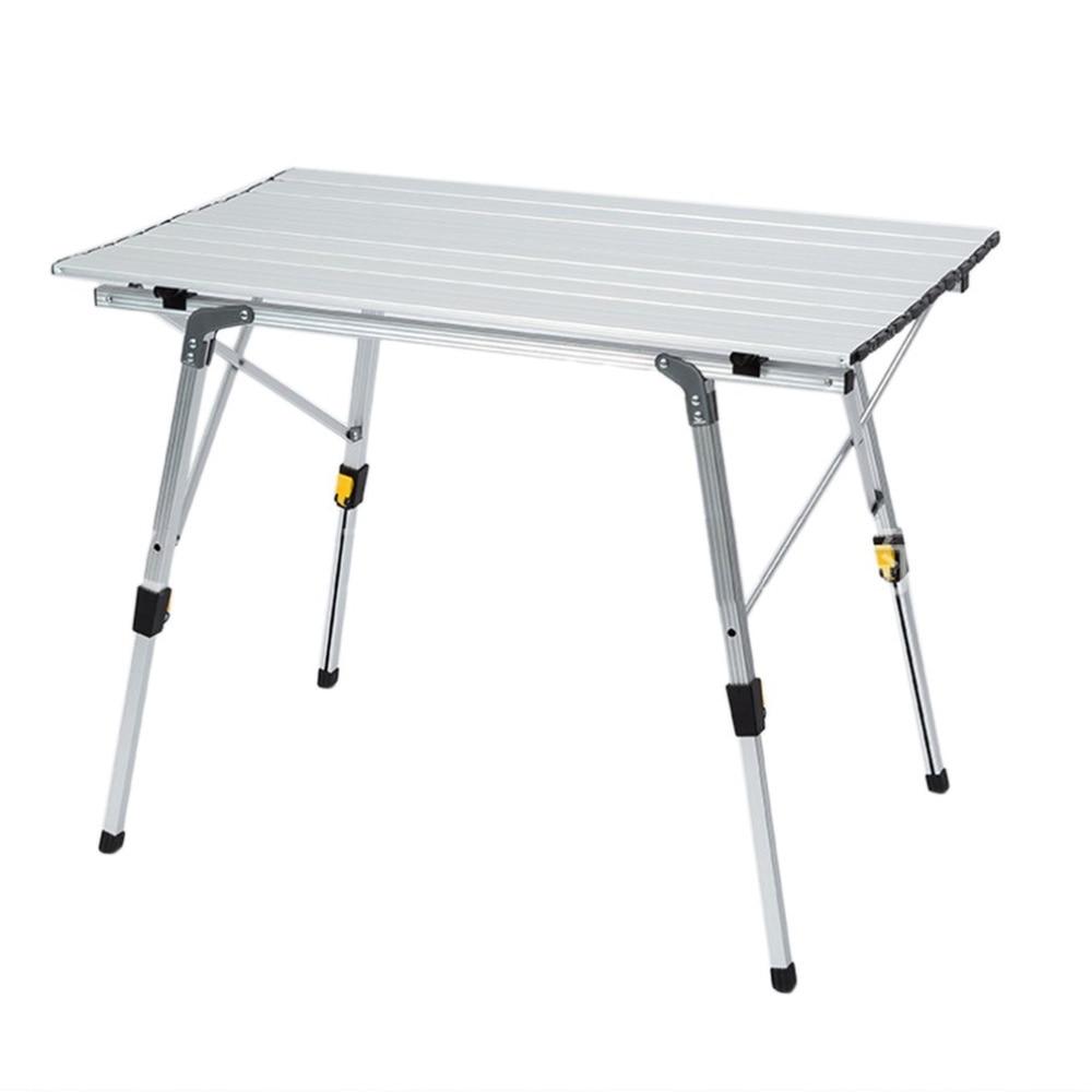 Портативный складной походный стол из алюминиевого сплава с регулируемой высотой для походного пикника