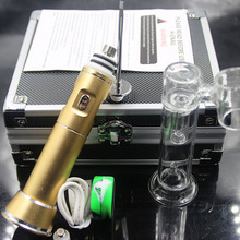 Colorful Electric enail portable G9 wax pen henail rig with ceramic nails titanium glass bubble attachment E nail