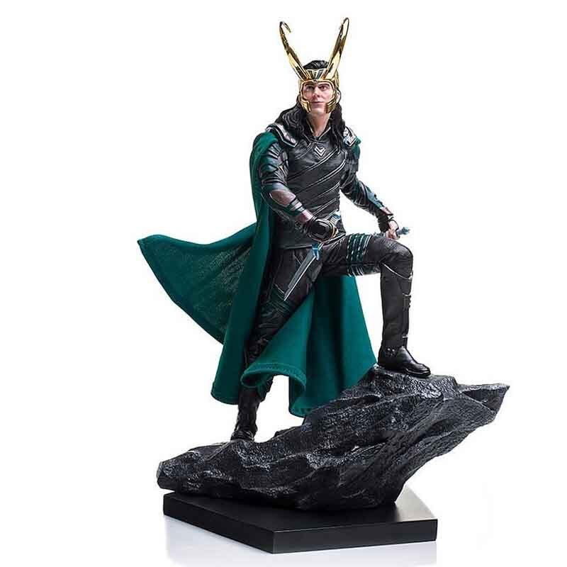 Thor Ragnarok bataille Diorama série Statue 1/10 Loki 25 cm avec boîte Anime figurine jouets