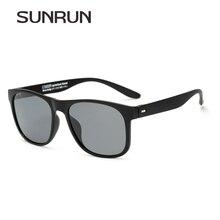SunRun высокое качество поляризационные Солнцезащитные очки для женщин квадратный TR90 Рамка Новая мода очки для Для мужчин Вождение автомобиля Защита от солнца Очки Lz1418