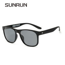 SUNRUN High Quality Polarized Sunglasses Square TR90 Frame New Fashion Eyewear For Men Car Driving Sun Glasses Lz1418