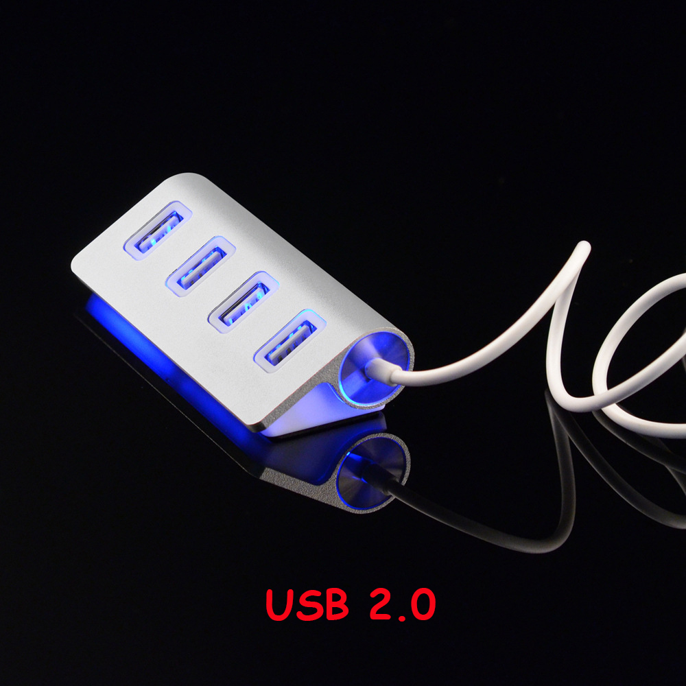 USB 2 0 HUB 4 Port High Speed USB Multi HUB Splitter Port Portable Expander With EU US Adapter For Tablet Laptop Macbook Air in USB Hubs from Computer Office