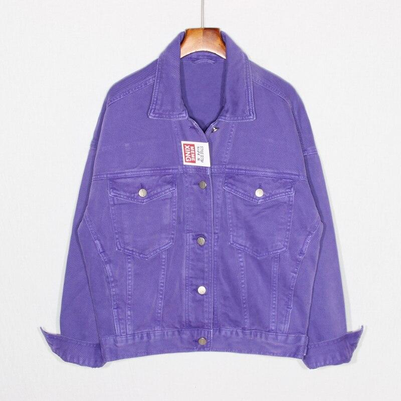 Femmes décontracté Denim vestes printemps automne mode solide court Jeans veste lâche revers à manches longues rue veste manteau femmes Outwear