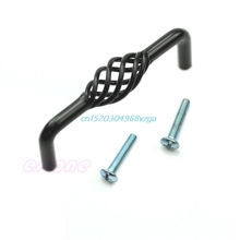 Classy Pull Handle Vintage Style Bird Cage Kitchen 96mm/128mm/160mm Holes  Range For Choice Cabinet Cupboard Door Drawer Black