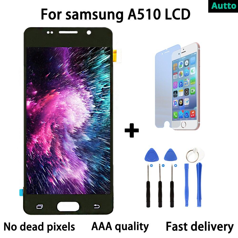 Super AMOLED Pour SAMSUNG GALAXY A5 2016 A510 LCD Affichage à L'écran Tactile Digitizer Assemblée Remplacement Pour 5.2