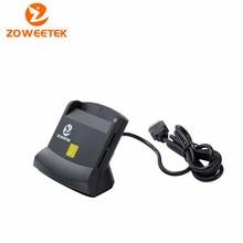 Zoweetek 12026-6 Brand New Easy Comm USB Smart Card Reader IC/ID card Reader High Quality Dropshipping zw 12026 3 emv usb smart card reader writer dod military usb common access cac smart card reader iso7816 for sim atm ic id card