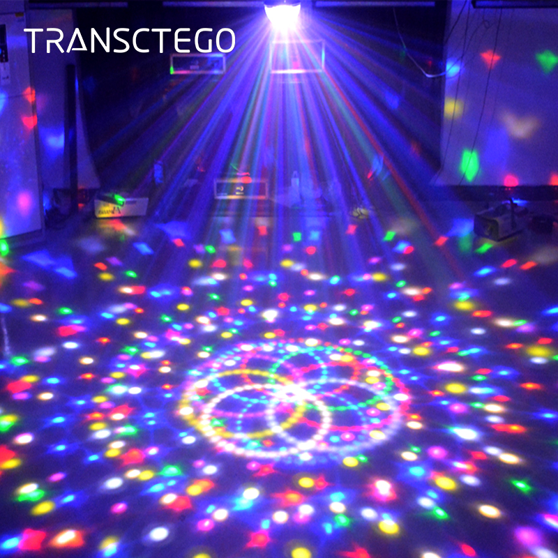 9 Colors DMX 512 Led Disco Light Laser lumiere Wireless RGB Party Lights For Kids Parties DJ Sound Activated Disco Ball Lamp