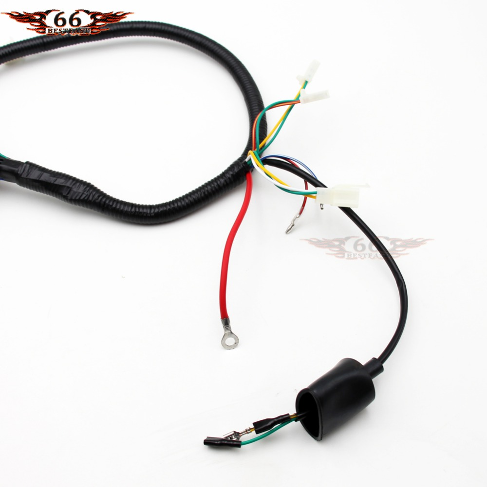 small resolution of gy6 wireloom wiring harness assembly for scooter 50cc 125cc 150cc 200cc 250cc chinese elecric start kandi atv quad bike atomik buggy