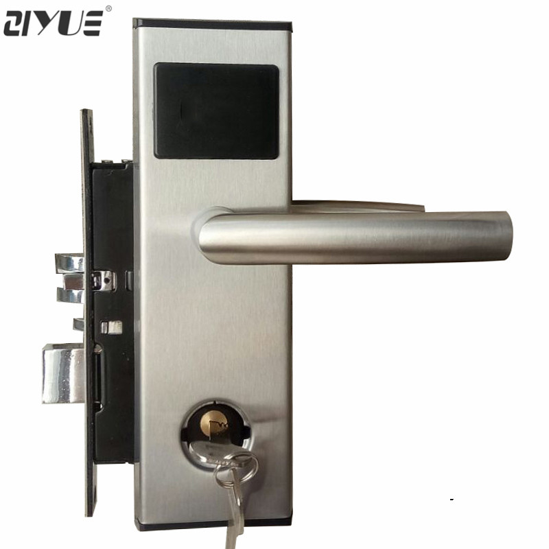 Digital ANSI 125Khz T5577 RF RFID Card Key Reader Electronic Hotel Card Door Lock ET100RF high class digital electronic rfid card hotel door handle locks with master card key options et820rf
