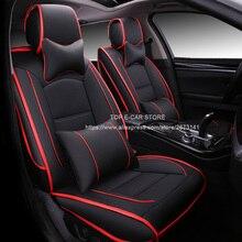 De cuero de lujo cojín del asiento de coche cubre universal para Lacetti Chevrolet Cruze Epica Sail Malibu Aveo Lanos Niva Chispa coche-styling