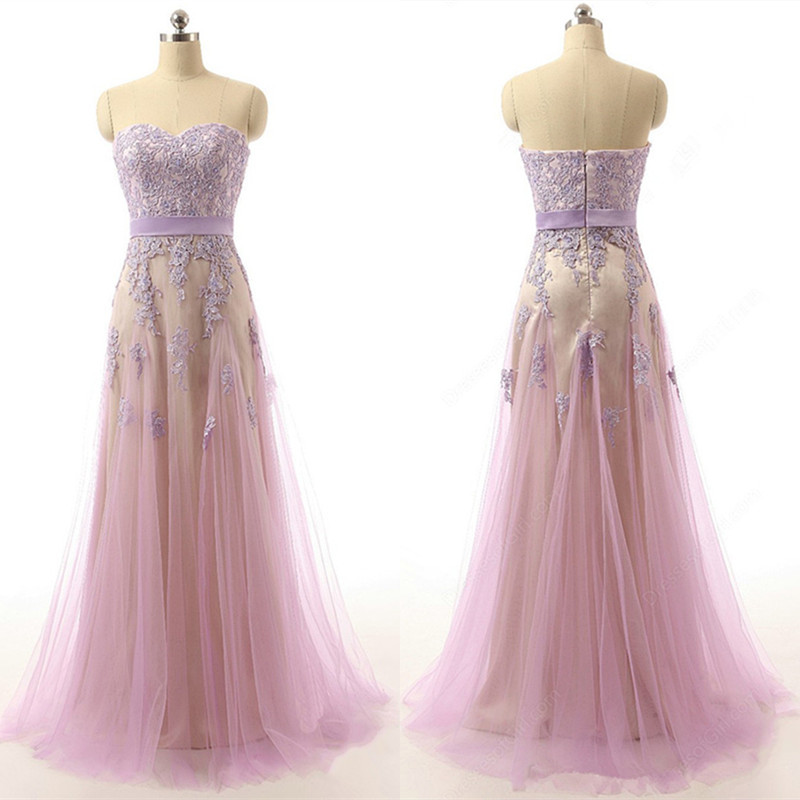 Cheap Wedding Dresses Raleigh Nc: Unique Pink Prom Dresses Lovely Sweetheart With Appliques