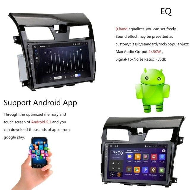 2 Din Android 5.1 Stereo Car GPS Radio wifi para Nissan Altima Teana Quad Core CPU 16 GB Inand 1 GB RAM Bluetooth MP5 MP3 TF Plyaer