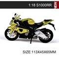 1:18 modelos de motocicletas s1000rr f650gs diecast moto modelo base de bicicletas niños juguete de regalo colección