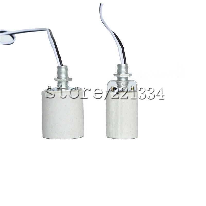 10pcs Ceramic Lampholder E27 Base Lamp Holder Lighting Fittings Accessories E27 Flame Retardant Free Shipping