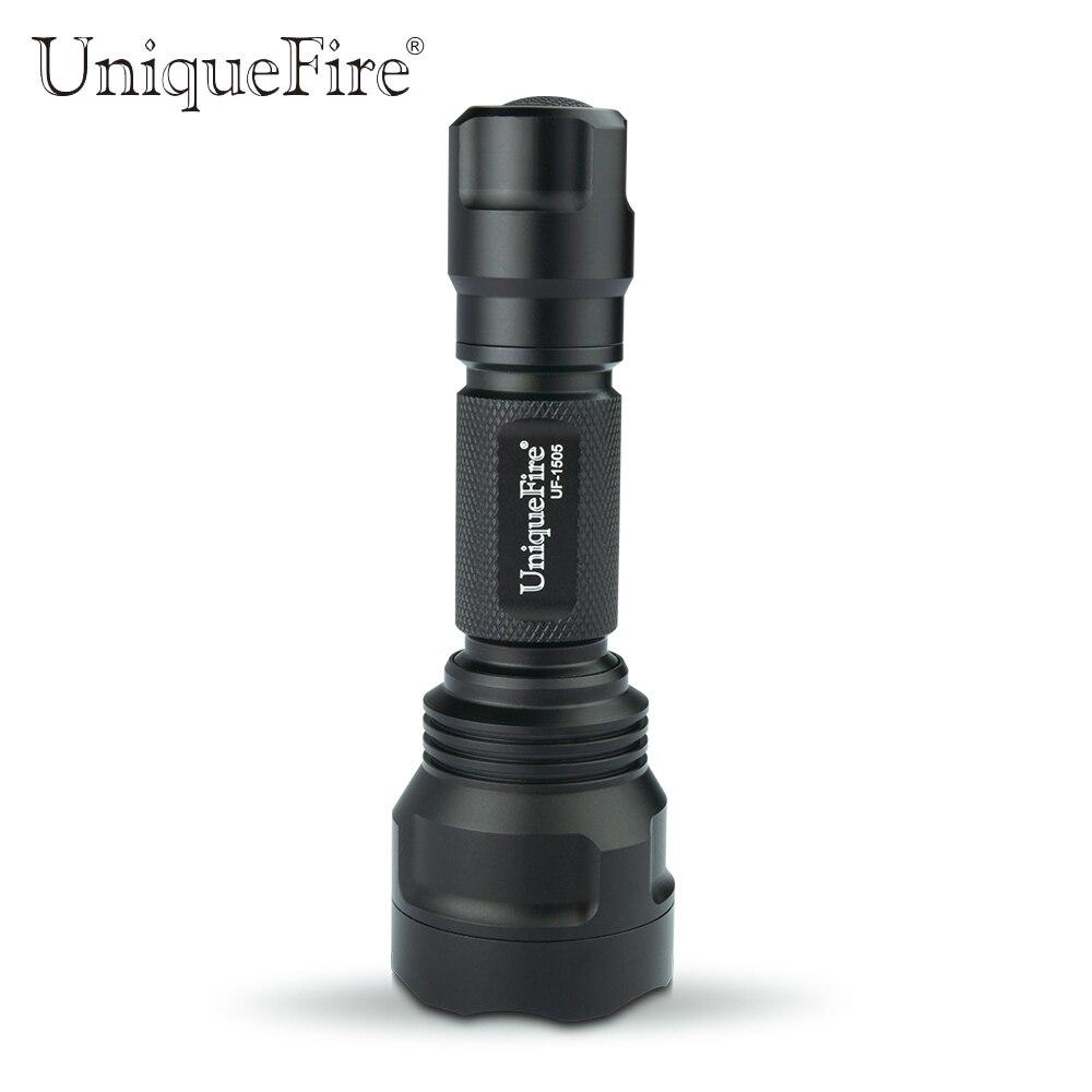 UniqueFire 1505-4715AS IR 850nm Vision nocturne Lampe Torche 3 Modes Zoomable Lampe de poche LED 38mm lentille convexe