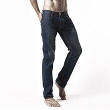 2016 Полосой Джинсы Мужские Случайные Прямые Джинсовые мужские Джинсы мужчины плюс размер 28-46 длинные брюки брюки бренда топ джинсы
