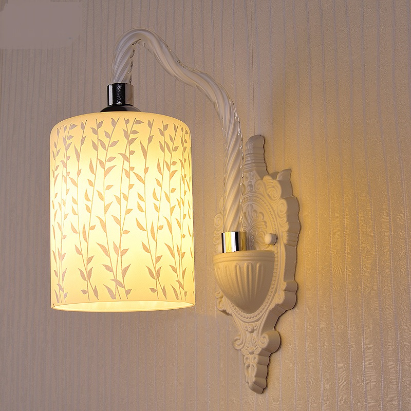 European Wall Lamps glass lamp bedroom bedside lamp restaurant dining room entrance corridor balcony staircase study LU823421 vemma acrylic minimalist modern led ceiling lamps kitchen bathroom bedroom balcony corridor lamp lighting study