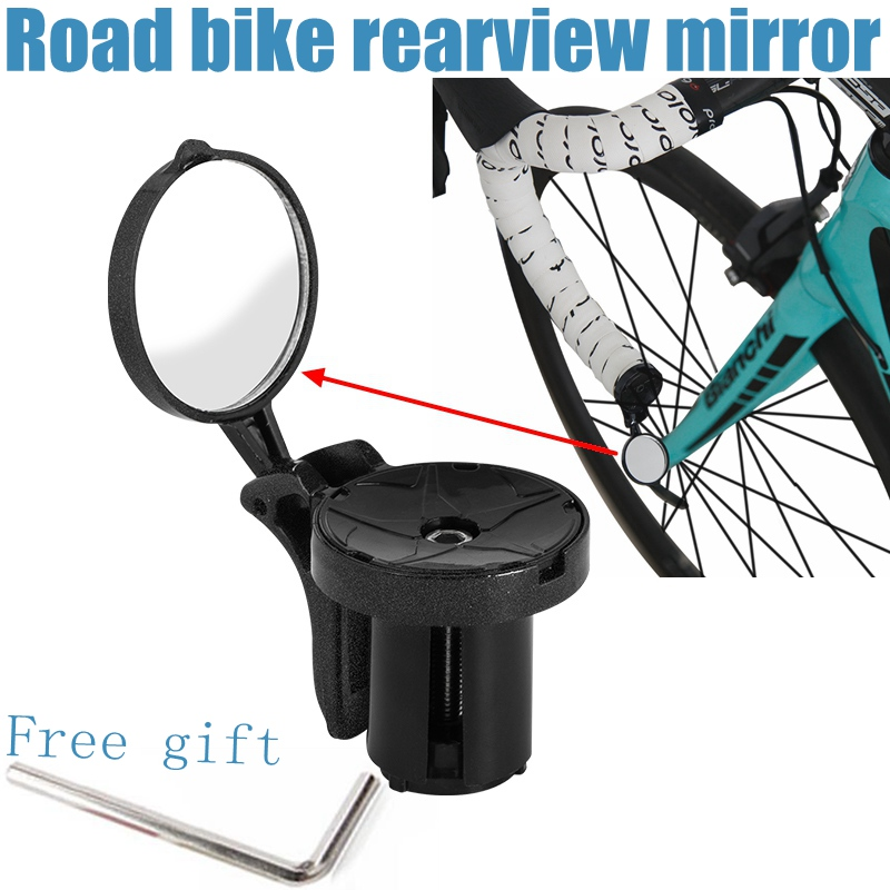 RICHY Ultra Light Road Bike Rearview Mirror 360 Rotation Reflector Safety Mirror 20-40meters Bicycle Safety Accessories