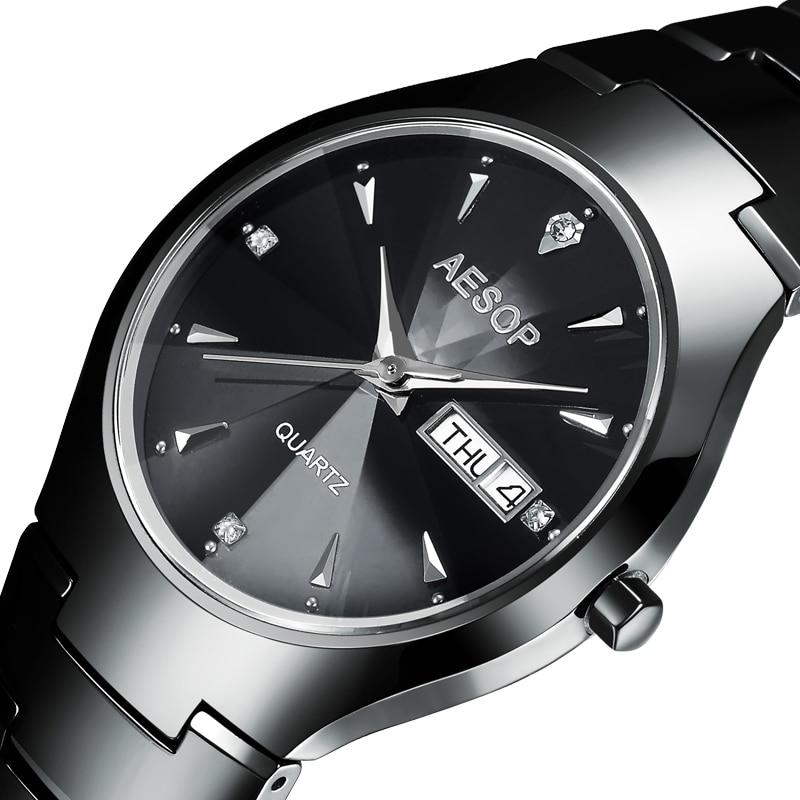 AESOP Ceramic Watch Men Diamond Crystal Top Brand Luxury Quartz Watch Date Male Clock Men Relogio Masculino