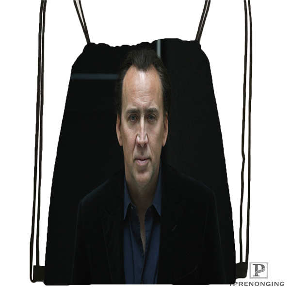 Custom Nicolas_Cage Drawstring Backpack Bag Cute Daypack Kids Satchel (Black Back) 31x40cm#180611-01-33