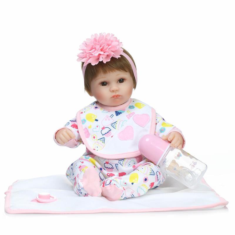 Buy 15 Inch Mini Reborn Dolls Babies Bonecas Silicone Reborn Dolls Clothes,Realistic Reborn Baby Dolls Soft Toys Children