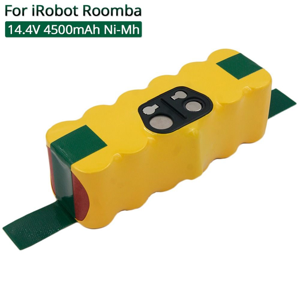 Aspirateurs Batterie Rechargeable 14.4 V 4500 mAh Ni-MH pour iRobot Roomba 500 520 530 531 555 560 600 780 700 780 770 800 880