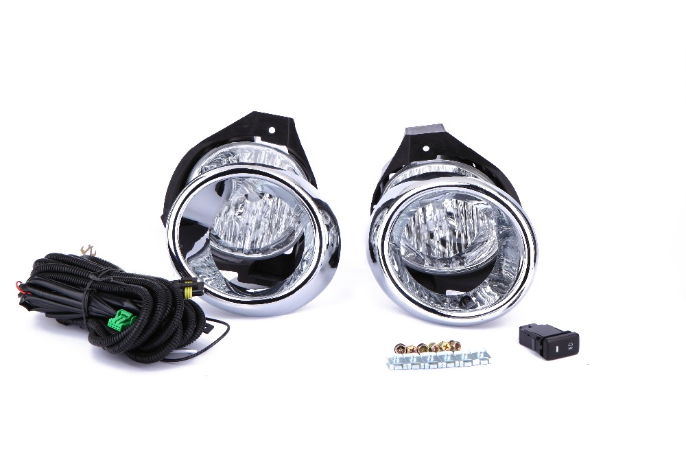 eOsuns halogen fog lamp for toyota HILUX vigo 2008, OEM design with harness, wiring kit, chrome fog lamp cover and switch for opel astra h gtc 2005 15 h11 wiring harness sockets wire connector switch 2 fog lights drl front bumper 5d lens led lamp
