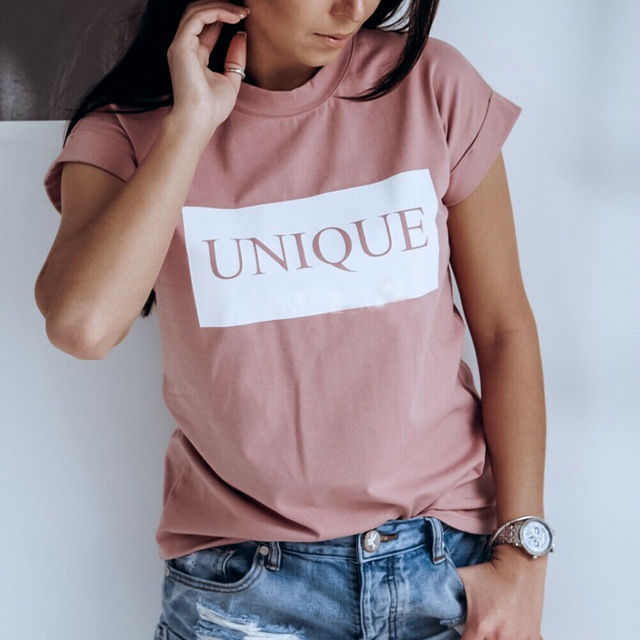 Women T-Shirt Casual Letter...
