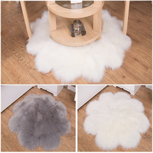 Hairy Artificial Sheepskin Fur Fluffy Flower Chair Seat Sofa Cover Carpet Mat Area Rug Home Decoration White Grey Shooting Prop цена
