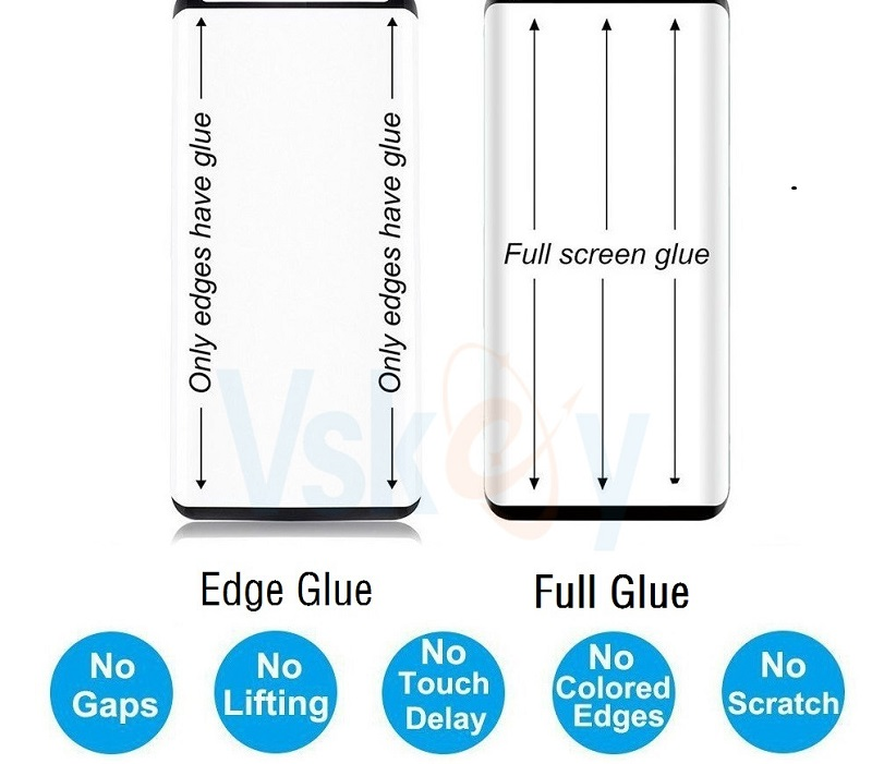 Image 3 - VSKEY 100pcs 2.5D Full Glue Tempered Glass for Xiaomi Redmi Note 8 Pro Full Cover Screen Protector Protective Film-in Phone Screen Protectors from Cellphones & Telecommunications