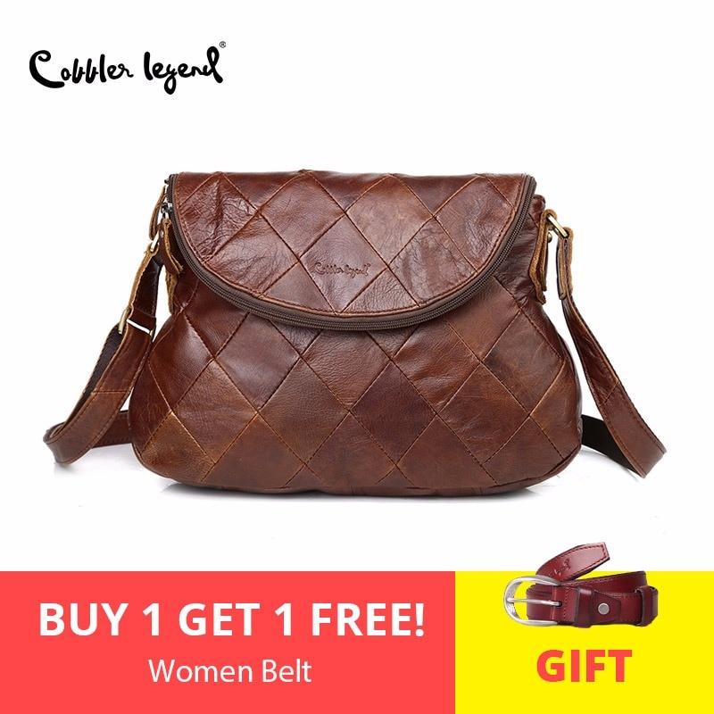 Cobbler Legend Brand Designer 2018 Naujos moteriškos kūno krepšys Moteriškos rankinės Vintage pečių maišeliai Moteriški natūralūs odiniai krepšiai