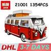 Lepin Bricks 21001 1354PCS Technic Blocks Volkswagen T1 Camper Van Model Bluding Blocks Compatible Legoing 10220
