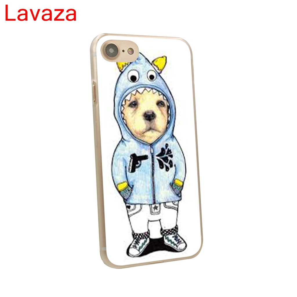 Lavaza Tattooed Bullterrier Cute dog Biaoqing Hard Transparent Case Cover for iPhone 8