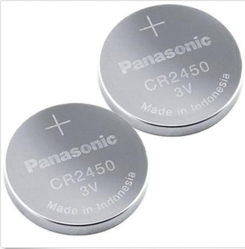 Новые оригинальные Литиевые кнопочные батарейки Panasonic CR2450 CR 2450 3 в, батарейки для часов, часов, слуховых аппаратов, 2 шт./лот