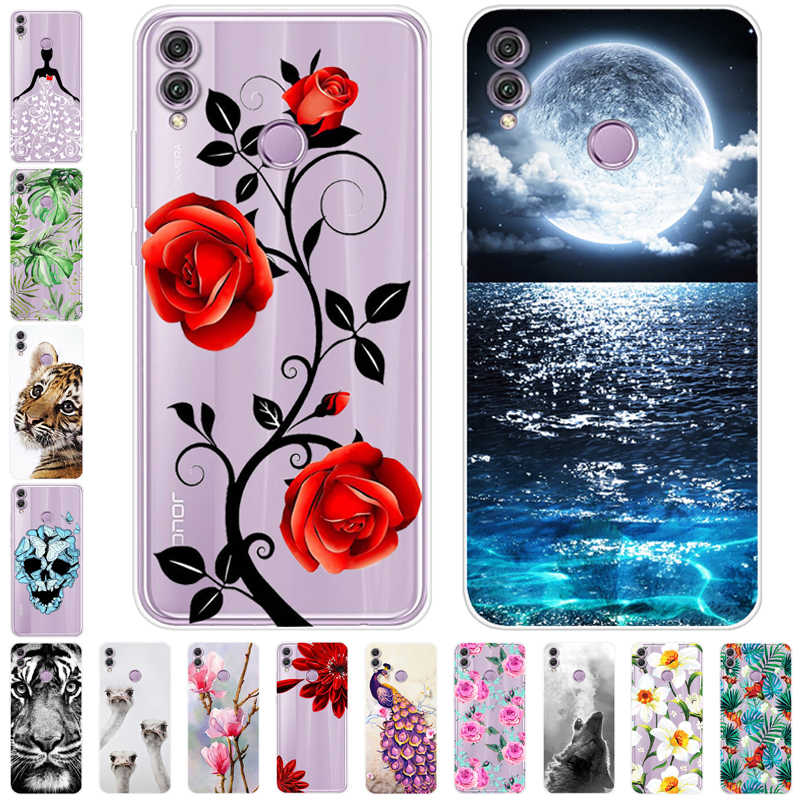 6.5'' For Huawei Honor 8X Case Silicone Soft TPU tiger back cover For Huawei Honor 8X Honor8X phone Case 8 X X8 JSN-L21 cases