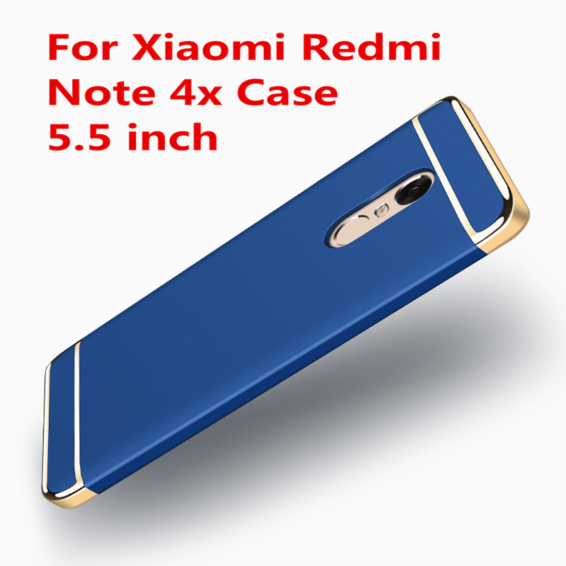 For Xiaomi Redmi Note 4X Case 5.5 inch Original Gold plating Shockproof Plastic Phone Cases For Xiaomi Redmi Note 4x cover
