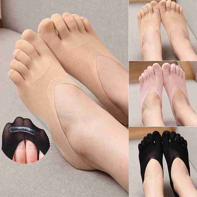 Fashion Women Men Ankle Five Finger Toe No Show Socks 3 Colors Invisible Hosiery