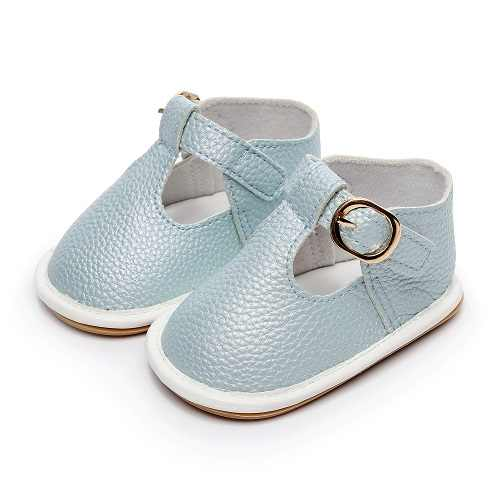 2019 HONGTEYA PU Leather Hard bottom Baby Girl boy purity shoes Baby Moccasins T-bar soft Footwear infant Crib antiskid hot sale
