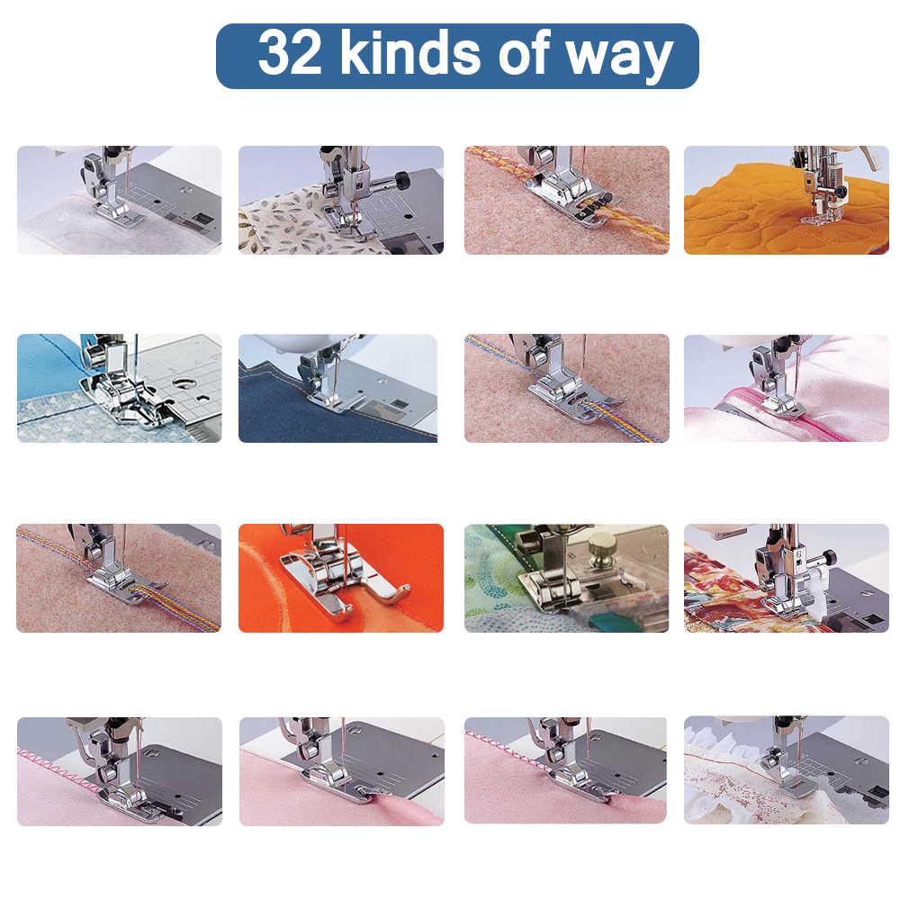 32Pcs di Alta Qualtiy Presse er Piede Cucire Accessori Presse Piedi Kit Per Brother Janome Yokoyama Juki Macchina Da Cucire