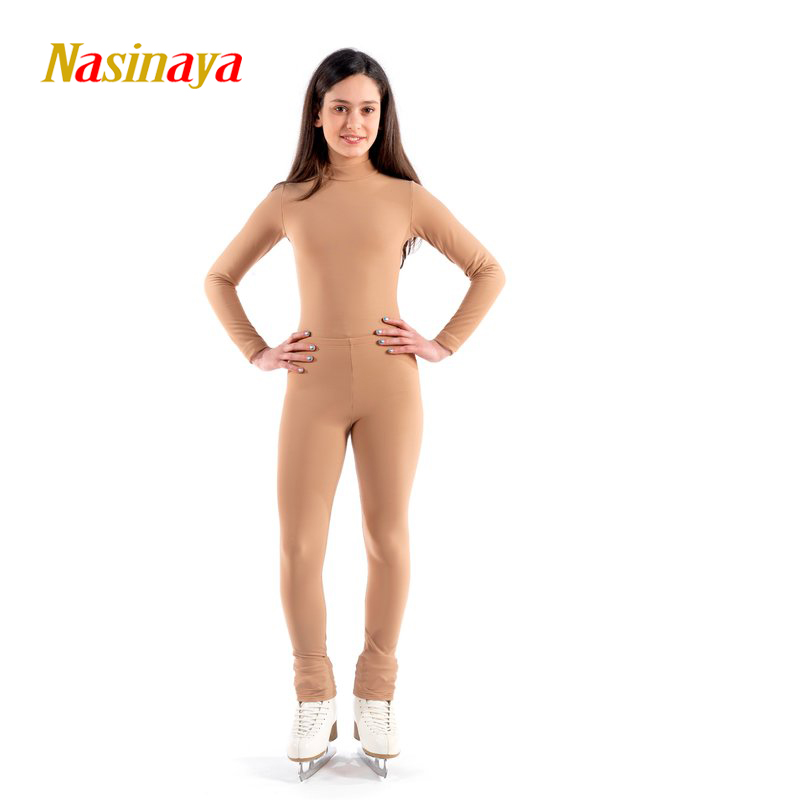 Nasinaya Figure Skating Leotard Suit Jumpsuit For Girl Kids Women One Piece Customized Patinaje Ice Skating Costume Gymnastics 1 figure skating clothing black ice skating dress custome hot sale girls skating suit absorb sweat washable spandex dance wear