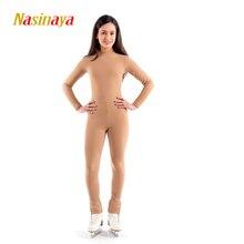 Nasinaya leotardo de Patinaje personalizado para niña y mujer traje de una pieza para Patinaje sobre hielo, para niñas, 1 unidad