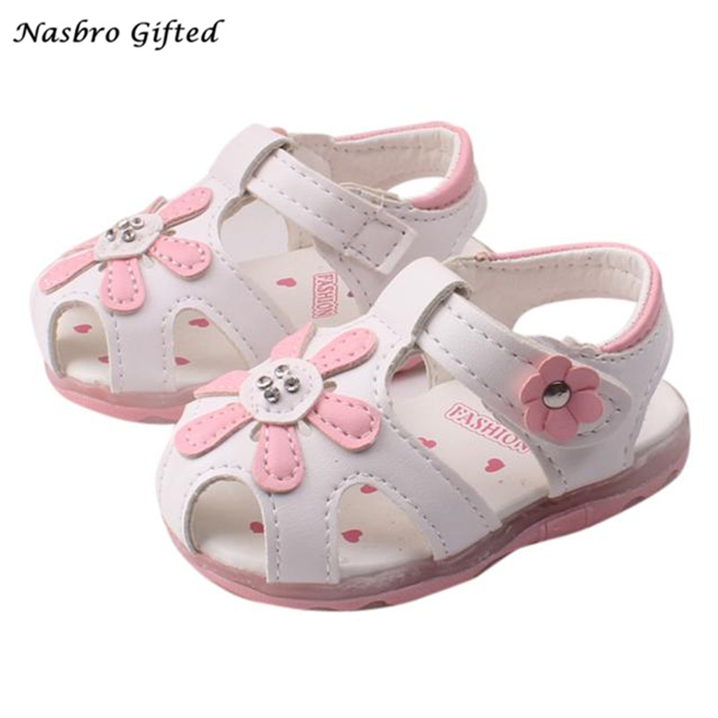 Toddler-New-Sunflower-Girls-Sandals-Lighted-Soft-Soled-Princess-Shoes-XL30-3