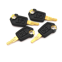 Ignition-Loader Dozer-Key Caterpillar 5P8500 Metal for Black Gold Whosesale 4PCS 4PCS