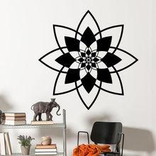 Vinyl Wall Decal Removable Mandala Sticker Namaste Yoga Art Mural Bohemian Home Bedroom Decoration AY325