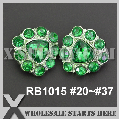 RB1015 1 19 144pcs lot Free Shipping Acrylic Rhinestone Button Shank Backing Used for Headbands